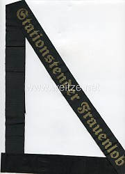 """Kriegsmarine Mützenband """"Stationstender Frauenlob."""""""