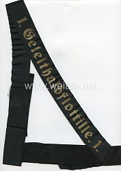 "Kriegsmarine Mützenband "" 1.Geleitflottille 1."""