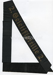"Kriegsmarine Mützenband "" 2.Geleitflottille 2."""
