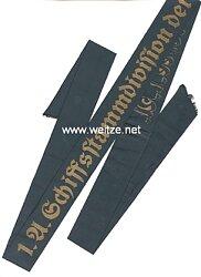 """Kriegsmarine Mützenband """"1.A. Schiffstammabteilung der Nordsee 1.A."""""""