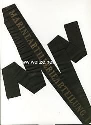 """Reichsmarine Mützenband """"1. Marineartilleriebateilung1."""""""