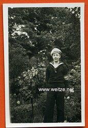 Foto eines Angehörigen der Marine-Hitlerjugend