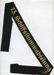 """Kriegsmarine Mützenband """" 13. Schiffsstammabteilung 13."""""""