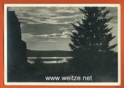 "Waffen-SS - Propaganda-Postkarte - "" Kampf der SS-Gebirgsdivision ' Nord ' in Karelien "" - Mitternachtssonne"