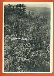 "Waffen-SS - Propaganda-Postkarte - "" Kampf der SS-Gebirgsdivision ' Nord ' in Karelien "" - In einem felsigen Abschnitt der Nordkarelienfront"