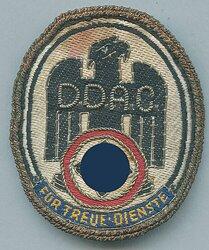 """D.D.A.C. tragbare Auszeichnung """"Für Treue Dienste"""","""
