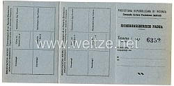 III. Reich - Sicherungsbereich Padua ( Italien ) - Ausweis/Bescheinigung