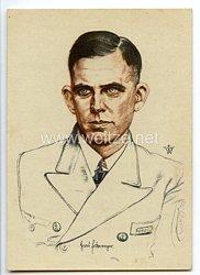 Kriegsmarine - Willrich farbige Propaganda-Postkarte - Ritterkreuzträger Fregattenkapitän Hans Erdmenger
