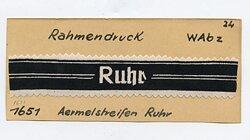 "Ärmelband der Volkssturm-Abteilung ""Ruhr"""