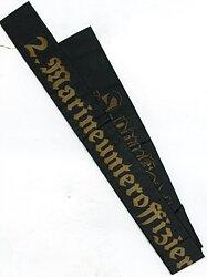 """Kriegsmarine Mützenband """"2. Marineunteroffizierslehrabteilung"""""""