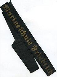 "Kriegsmarine Mützenband "" Marineschule Friedrichsort"""