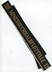 """Reichsmarine Mützenband """"XII. Minensuchhalbflottille XII."""""""