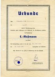 Luftwaffe - Ernennungsurkunde zum E.-Messmann