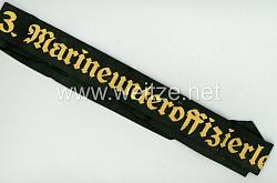 """Kriegsmarine Mützenband """"3. Marineunteroffizierlehrgang 3."""""""
