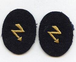 Kriegsmarine Paar Ärmelabzeichen für Nachrichtenoffiziere