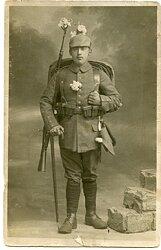 1. Weltkrieg Foto eines Soldaten