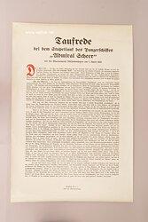 """Kriegsmarine - Taufrede beim dem Stapellauf des Panzerschiffes """" Admiral Scheer """" bei der Marinewerft Wilhelmshaven am 1. April 1933."""