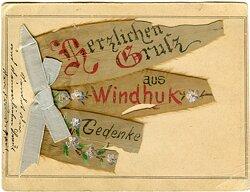 Postkarte herzlichen Gruss aus Windhuk