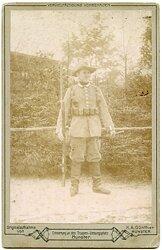 Kaiserliche Schutztruppe großes Kabinettfoto eines Soldaten