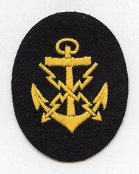 Kriegsmarine Ärmelabzeichen für einen Fernschreibmaat