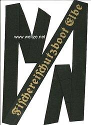 """Kriegsmarine Mützenband """"Fischereischutzboot Elbe"""""""
