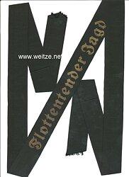 """Kriegsmarine Mützenband """"Flottentender Jagd"""""""