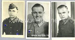 Konvolut von 5 Portraitfotos von Angehörigen der Wehrmacht