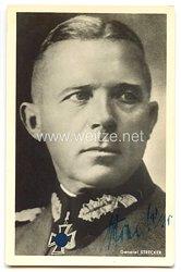 Heer - Originalunterschrift von Ritterkreuzträger General Karl Strecker