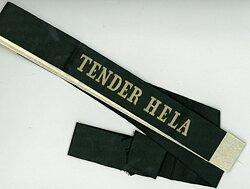 """Reichsmarine Mützenband """"Tender Hela"""""""