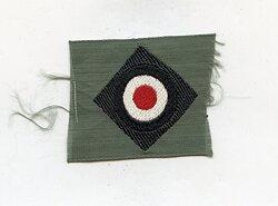 Wehrmacht Heer Schiffchenkokarde für Mannschaften für das schwarze Panzerschiffchen,