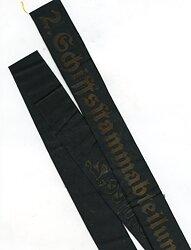 """Kriegsmarine Mützenband """" 2. Schiffsstammabteilung der Ostsee 2."""""""