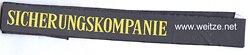 """Mützenband """" Sicherungskompanie """", Bundesmarine"""