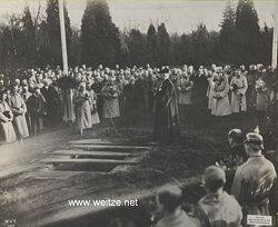 """1.Weltkrieg Pressefoto """"Beisetzung des Generals von Emmich in Hannover """""""