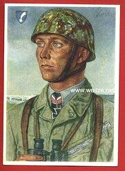 Luftwaffe - Willrich farbige Propaganda-Postkarte - Ritterkreuzträger Major Walter Koch