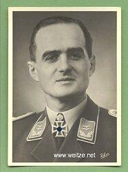 Luftwaffe - Portraitpostkarte von Ritterkreuzträger Oberleutnant Spaete