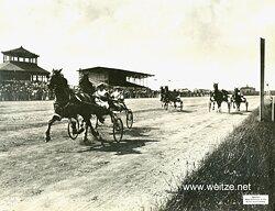 """1.Weltkrieg Pressefoto """"Trabrennen in Mariendorf"""""""