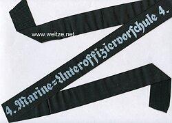 """Kriegsmarine Mützenband """"4.Marine=Unteroffiziersvorschule 4."""""""