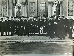 """1.Weltkrieg Pressefoto """"Begeisterter Empfang der bulgarischen parlamentarier in Deutschland"""""""