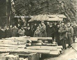 """1.Weltkrieg Pressefoto """"Reise der österr. ungar. Delegation in die besetzten Gebiete Italiens"""""""