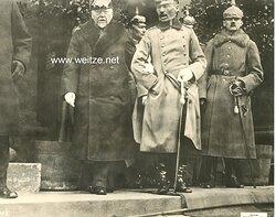 """1.Weltkrieg Pressefoto """"Reichskanzler Graf Hertling auf der goldenen Hochzeit des Bayerischen Königspaares"""""""