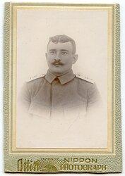 Deutsches Expeditionskorps in China kleines Kabinettfoto eines Soldaten im 1. Ostasiatischen Infanterie Regiment