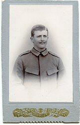 Deutsches Expeditionskorps in China kleines Kabinettfoto eines Soldaten im 2. Ostasiatischen Infanterie Regiment
