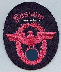 """III. Reich Feuerwehr Ärmeladler """" Rassow """""""