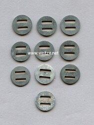 Wehrmacht Unterlegscheiben für Stahlhelmnieten Stahlhelm M 40 und M 42