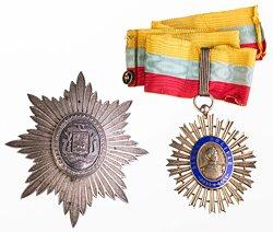 Orden Simon Bolivar. Kommandeurkreuz mit Bruststern
