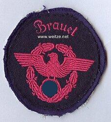 """III. Reich Feuerwehr Ärmeladler """" Brauel """""""