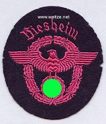 """III. Reich Feuerwehr Ärmeladler """" Biesheim """""""