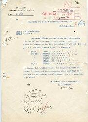 Anschreiben zur Verleihung der Spange zum Eisernen Kreuz 2. Klasse an den Ritterkreuz- und Eichenlaubträger Kapitänleutnant Dr. Ernst Palmgren