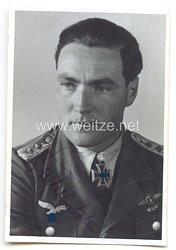 Luftwaffe - Originalunterschrift von Ritterkreuzträger Hauptmann Erwin Fischer