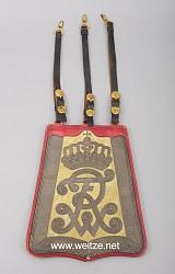 Preußen Säbeltasche für Offiziere im Husaren Regiment Nr. 15 und 16